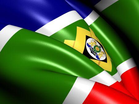 Flag of Johannesburg, South Africa. Close Up.