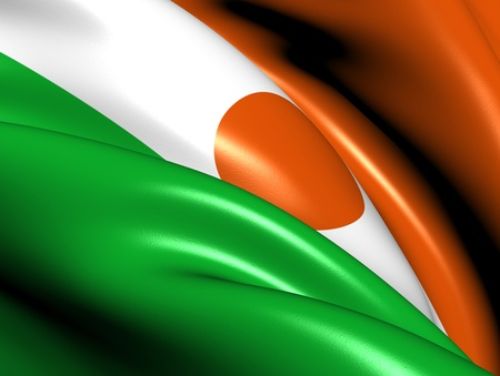 niger: Flag of Niger  Close Up     Stock Photo