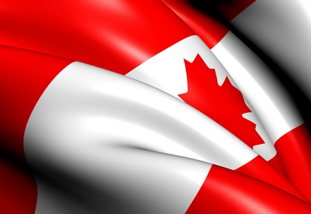 Flag of Canada  Close Up     photo