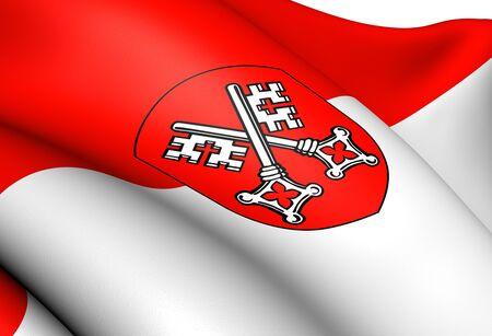 regensburg: Flag of Regensburg, Germany  Close Up