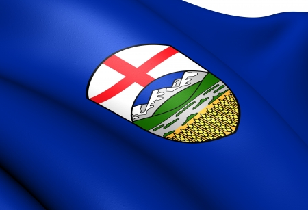 Flag of Alberta, Canada  Close Up  photo