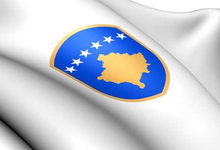 Kosovo Coat of Arms  Close Up   photo