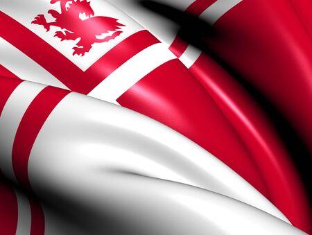Flag of Weststellingwerf, Netherlands. Close Up.    photo