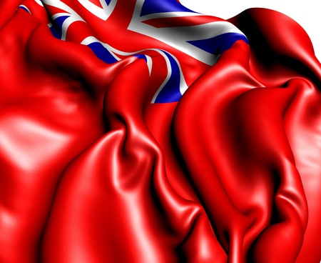 ensign: British Red Ensign. Close Up.    Stock Photo