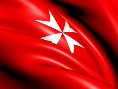 Civil Ensign of Malta. Close Up.    photo