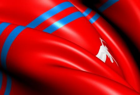 Flag of Volgograd Oblast, Russia  Close Up     photo