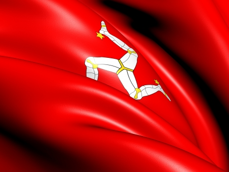 Isle of Man Flag  Close Up   photo