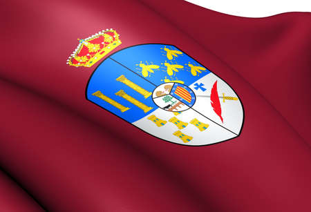 Flag of Salamanca Province, Spain  Close Up   photo