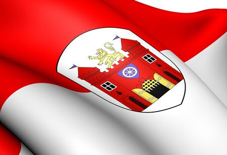 Flag of Liberec, Czech Republic. Close Up.    photo