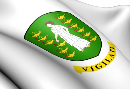 British Virgin Islands Coat of Arms  Close Up   photo