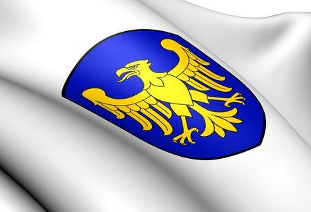 Silesian Voivodeship Coat of Arms, Poland  Close Up     photo