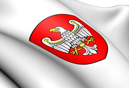 wielkopolskie: Greater Poland Voivodeship Coat of Arms, Poland. Close Up.