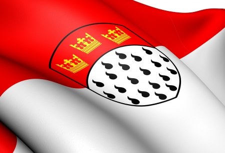 north rhine westphalia: Flag of Cologne, Germany  Close Up     Stock Photo