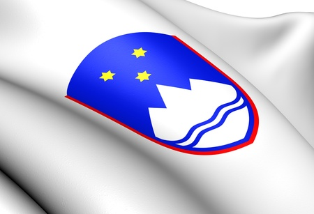 ensign: Slovenia Coat of Arms  Close Up
