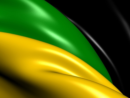 African National Congress Flag  Close Up   photo
