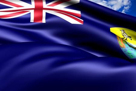 helena: Flag of Saint Helena  Close Up