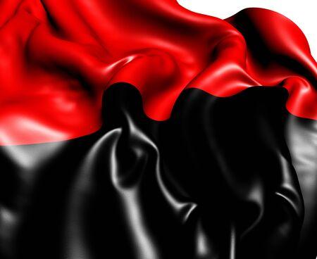 anarchist: Anarchist Flag  Close Up  3D     Stock Photo