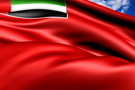 ensign: United Arab Emirates Civil Ensign  Close Up