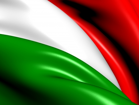 Flag of Hungary  Close Up     photo