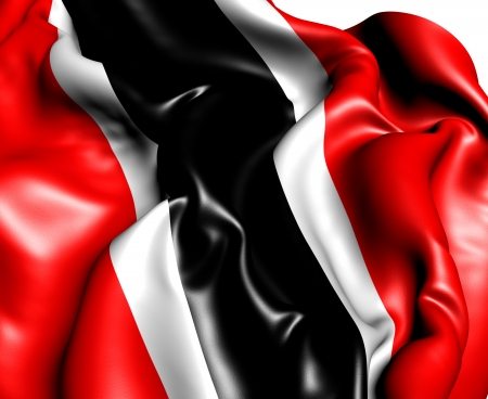 national flag trinidad and tobago: Flag of Trinidad and Tobago  Close Up