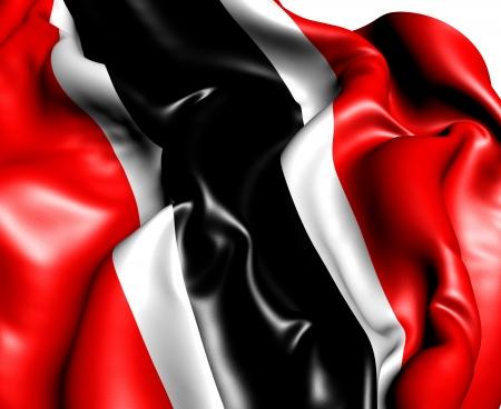 trinidad and tobago: Flag of Trinidad and Tobago  Close Up