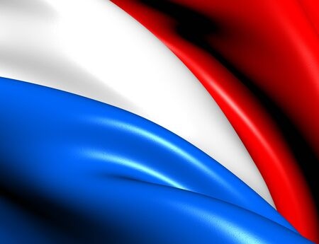 Flag of Luxemburg  Close Up     photo