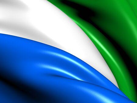 sierra: Flag of Sierra Leone  Close Up     Stock Photo