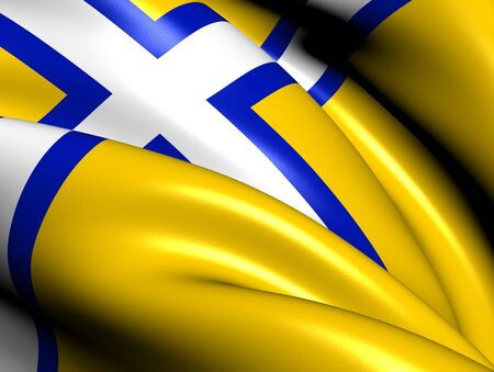 Bandera de Suecia Occidental Close Up photo