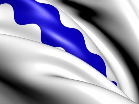 limburg: Flag of Beek, Netherlands  Close Up