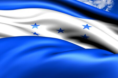 Bandera de Honduras Close Up photo
