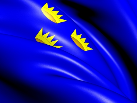 Flag of Munster, Ireland. Close Up.    photo