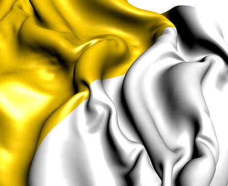 Flag of Antrim, Northern Ireland  Close Up Stock Photo - 15793224