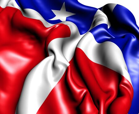 puerto rican flag: Flag of Lares, Puerto Rico  Close Up    Stock Photo