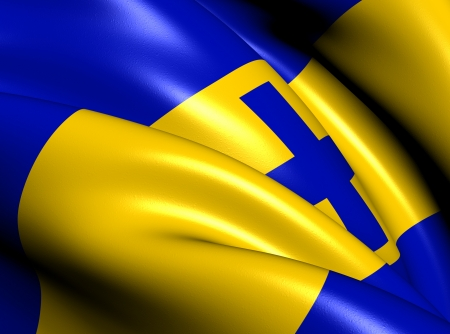 western town: Flag of Baarn, Netherlands  Close Up