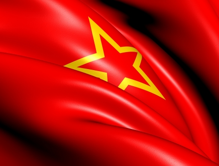Red Army Flag  Close Up   photo