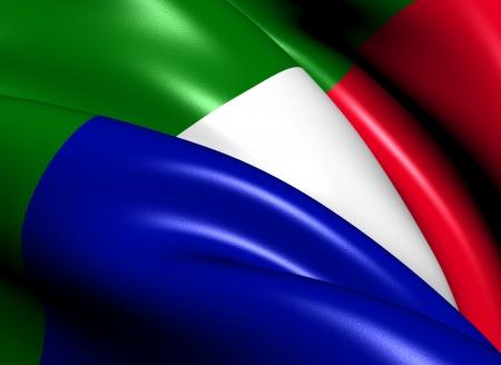 boer: Transvaal y el Sur Bandera de la Rep�blica Close Up
