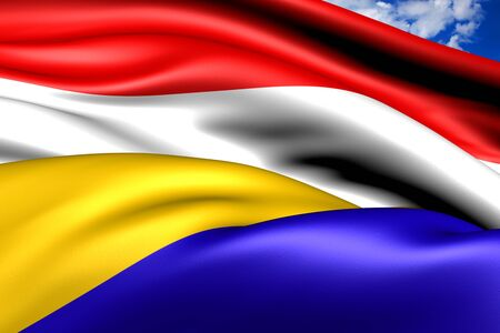 municipality: Flag of Renkum, Netherlands. Close Up.  Stock Photo