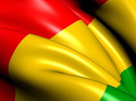 republique: Flag of Guinea. Close Up.