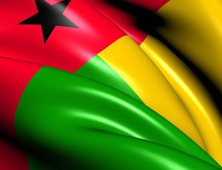 guinea bissau: Flag of Guinea-Bissau. Close Up.    Stock Photo