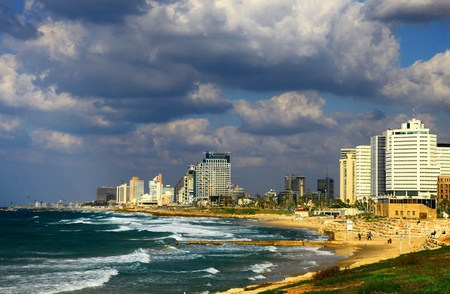 View of the Tel Aviv, Israel.  photo