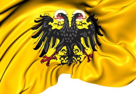 roman empire: Holy Roman Empire Flag (1400-1806). Close Up.    Stock Photo