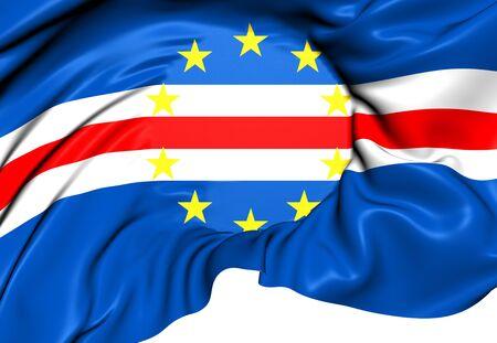 verde: Flag of Cape Verde. Close Up.