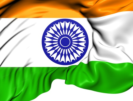 east indian: Flag of India. Close Up.