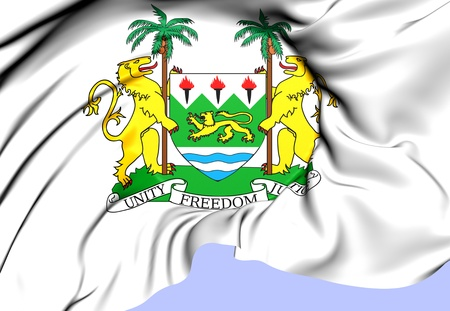 sierra leone: Sierra Leone Coat of Arms. Close Up.