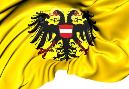 roman empire: Holy Roman Empire Flag (1437-1493). Close Up.
