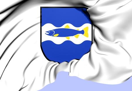 sverige: Alvkarleby Coat of Arms, Sweden. Close Up.    Stock Photo