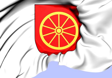 Ange Coat of Arms, Sweden. Close Up.