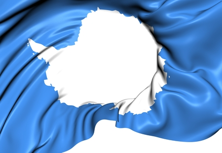 antarctica: Flag of Antarctica. Close Up.