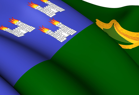 Flag of Dublin. Close Up. photo