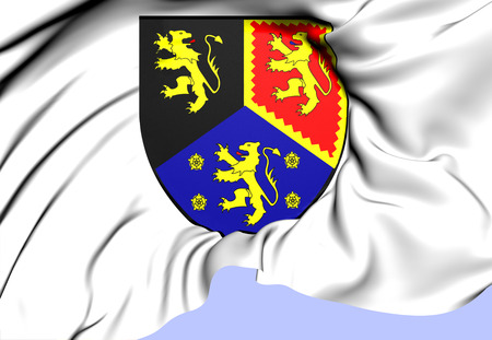 cymru: Dyfed Coat of Arms, Wales. Close Up.   Stock Photo
